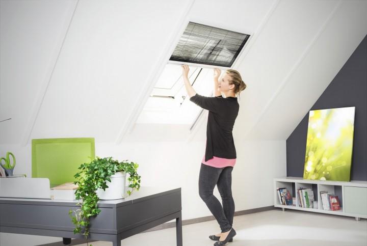 Dachfenster Plissee XL Ambiente weiß