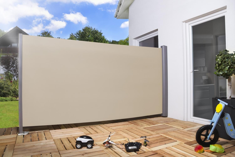 seitenmarkise windschutz pro aluminium textilgewebe. Black Bedroom Furniture Sets. Home Design Ideas