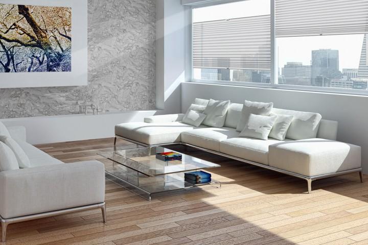 Plissee auf Maß für Fenster Ambiente Wohnzimmer VS2 Farbe N176