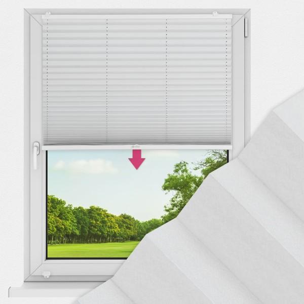 Plissee nach Maß für Fenster Farbe N097 Nimbus Cloud Ausführung VS1