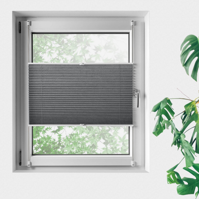 Sonnenschutz Plissee für Fenster, kürzbar - dekorativ - ohne Bohren