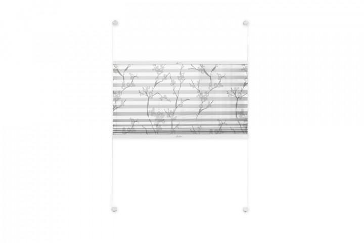 Plissee nach Maß für Fenster Farbe N109 White Japan Freisteller VS2