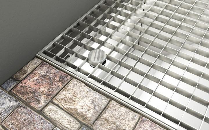 Gitterrostsicherung PROTECTUS Sicherungsplatte Gitterrost