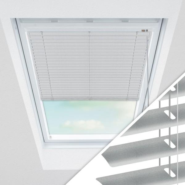 Aluminium Jalousie nach Maß für Dachfenster, Farbe 2036 silber gebürstet