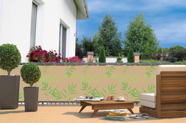 Balkon-Sichtschutz inkl. Kordel Bamboo