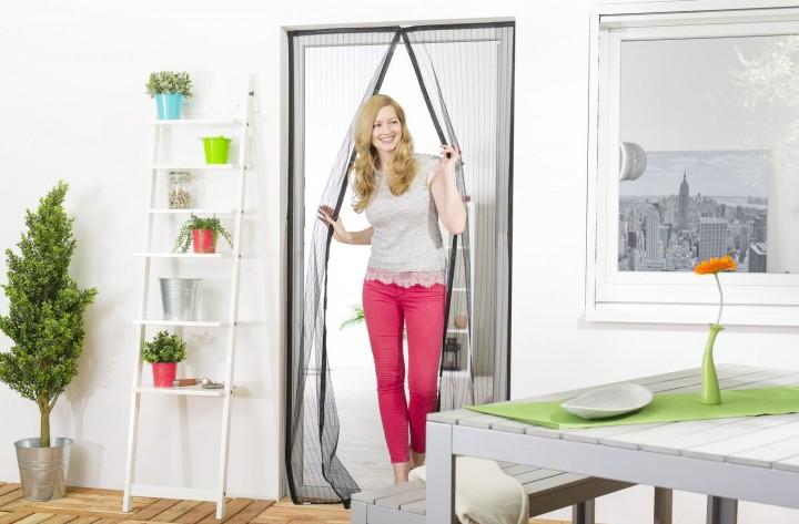 "Magnet-Lamellenvorhang ""STANDARD"" 100 x 220 cm mit Bordüre, Polyester"