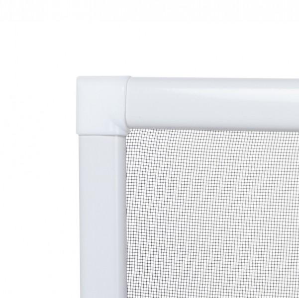 Fliegengitter Fenster Basic Eck aussen weiß