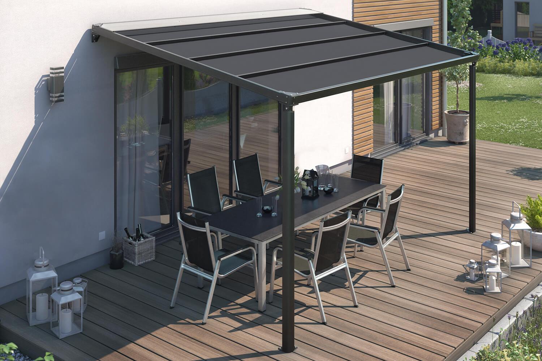 Elektrische Pergola / Terrassenüberdachung mit LED, verschiedene Größen