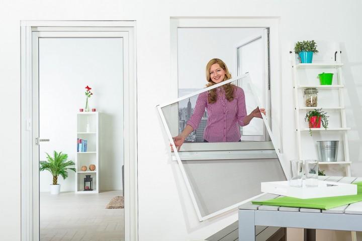 Fliegengitter Fenster Master Slim Ambiente weiß_1