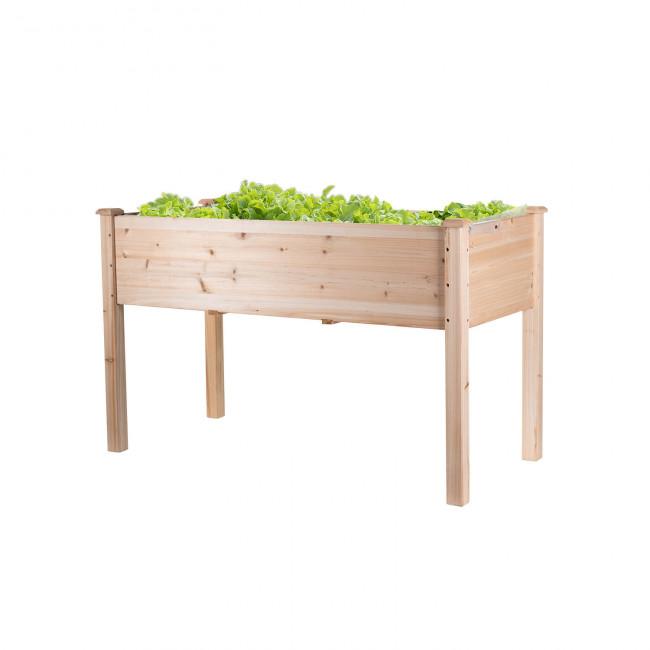 Hochbeet RAISE 1, Naturholz bepflanzt