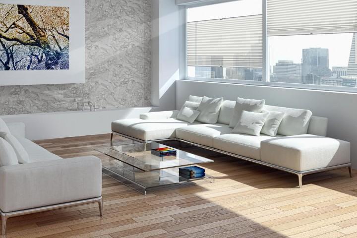 Plissee auf Maß für Türen Ambiente Wohnzimmer VS2 Farbe N179