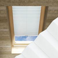 Plissee nach Maß für Dachfenster, Farbe N179 Ghost White
