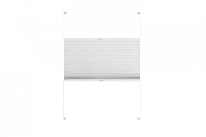 Plissee nach Maß für Türen Farbe N179 Ghost White Freisteller VS2