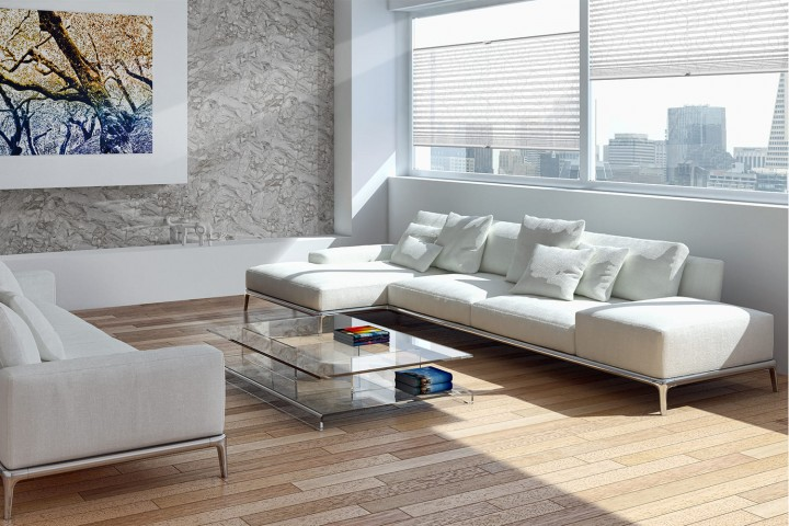Plissee auf Maß für Fenster Ambiente Wohnzimmer VS2 Farbe N170