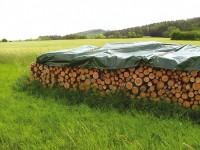 Holz-Abdeckplane 90g/qm, 6 x 1.5 m - blau/grün