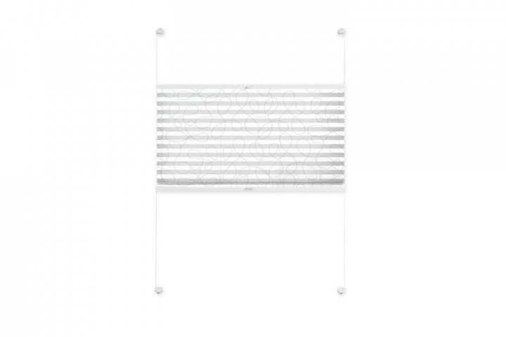 Plissee nach Maß für Fenster Farbe N170 White Rounds Freisteller VS2