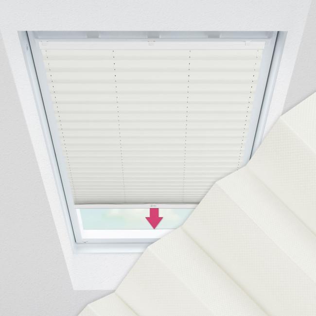Plissee nach Maß für Dachfenster, Farbe N181 Ivory
