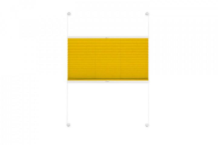 Plissee nach Maß für Fenster Farbe N738 Golden Rod Freisteller VS2
