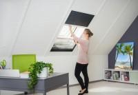"""Sonnen- / Insektenschutz Dachfenster Plissee """"MASTER DUO"""", 110 x 160 cm - Alurahmen - Zuschnitt"""