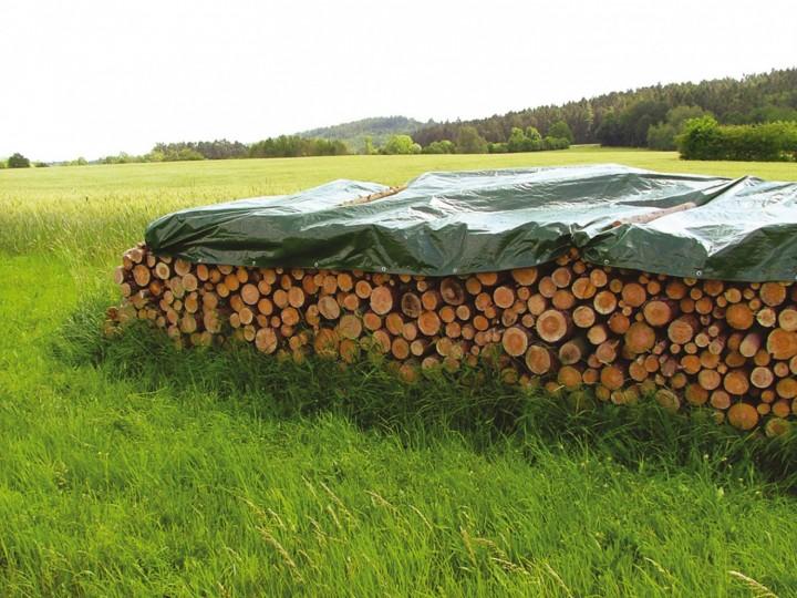 Abdeckplane 90g/m² Anwendung Holzstapel