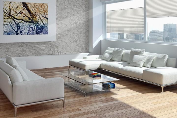 Plissee auf Maß für Fenster Ambiente Wohnzimmer VS2 Farbe N181