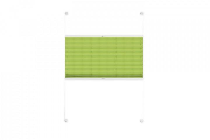 Plissee nach Maß für Fenster Farbe N715 Green Punch Freisteller VS2