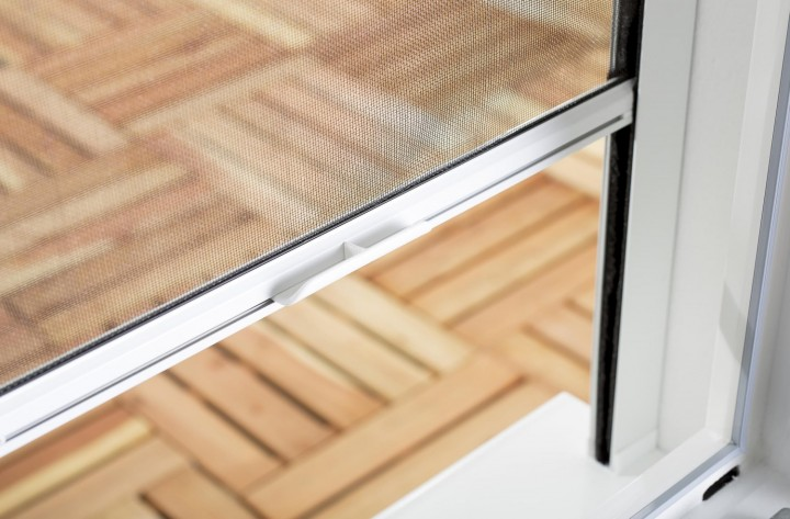 Insektenschutzrollo Fenster Smart Griff inklusive Griffleiste