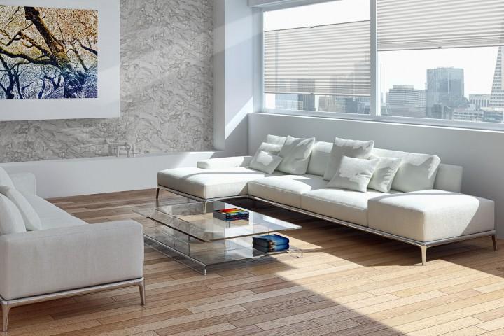 Plissee auf Maß für Türen Ambiente Wohnzimmer VS2 Farbe N193