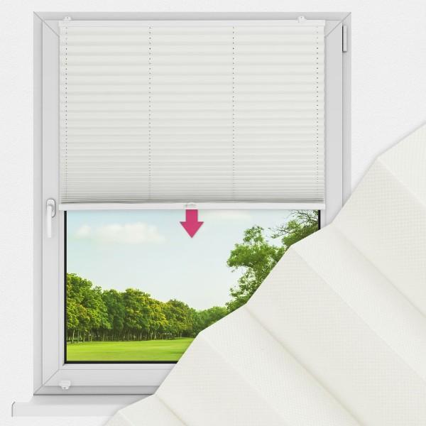 Plissee nach Maß für Fenster Farbe N181 Ivory Ausführung VS1