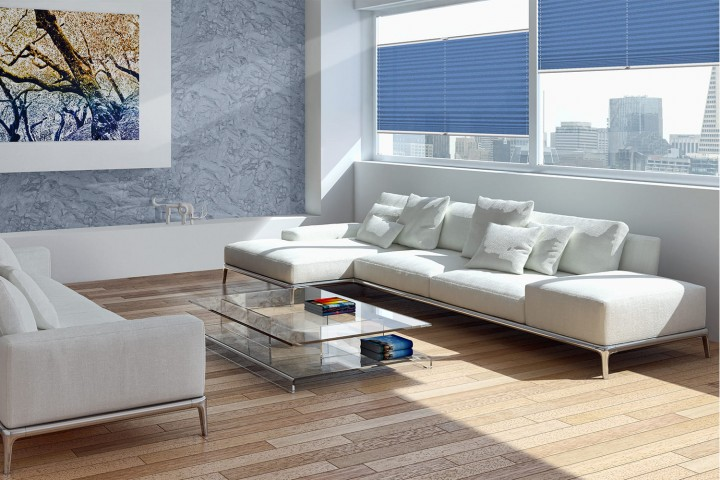 Plissee auf Maß für Fenster Ambiente Wohnzimmer VS2 Farbe N031