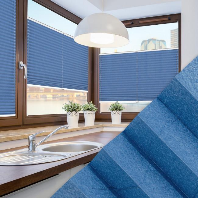 Plissee nach Maß für Fenster Farbe N031 Skydiver Ambiente Küche