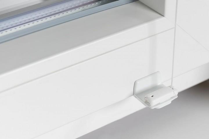 Plissee auf Maß Detail Spannhalter ohne Bohren zum Klemmen unten