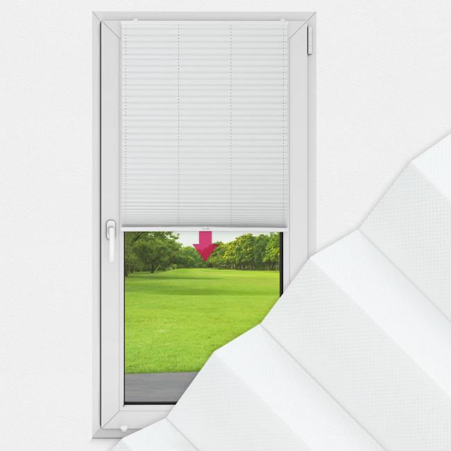 Plissee nach Maß für Türen, Farbe N179 Ghost White