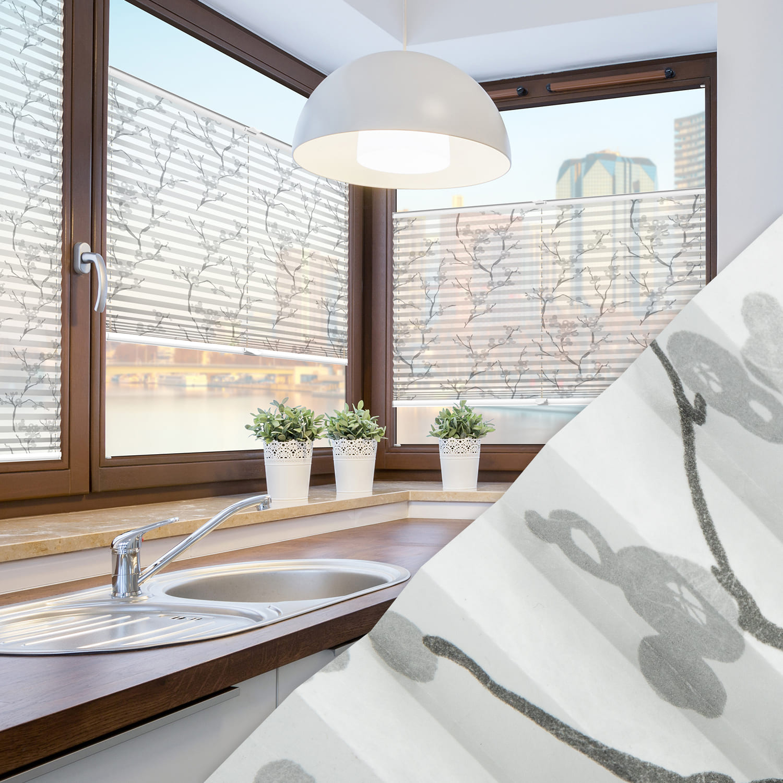 Plissee nach Maß für Fenster Farbe N109 White Japan