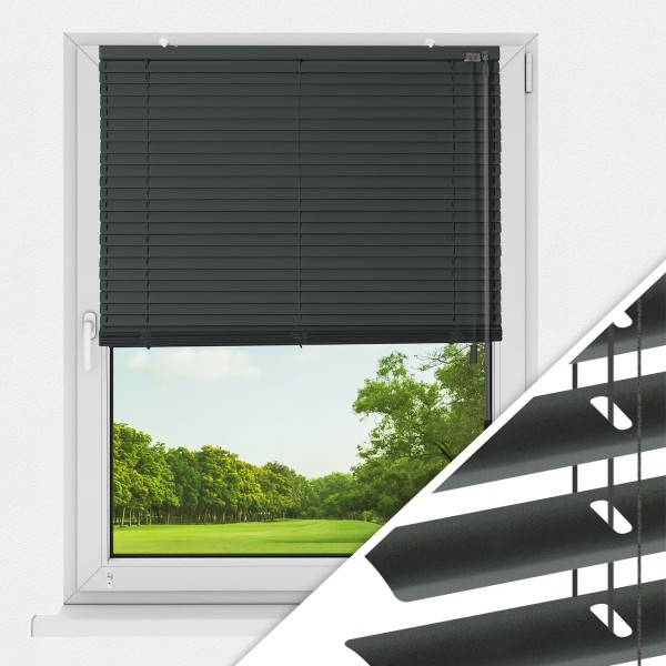 Aluminium Jalousie nach Maß für Fenster, Farbe 2037 anthrazit DB703