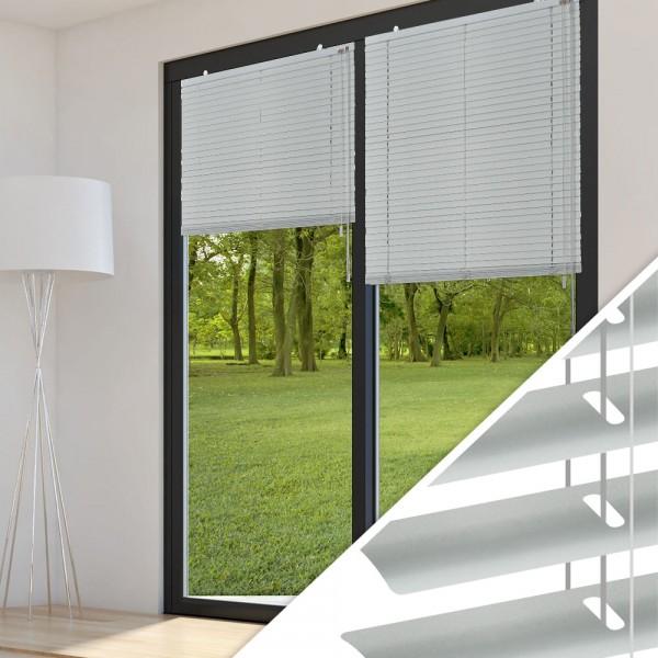 Aluminium Jalousie nach Maß für Türen, Farbe 2007E silber