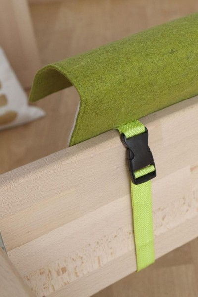 Bettablage Slappy grün Detail 2