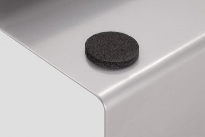Besen- und Schaufelhalter aus Metall Klebepunkt