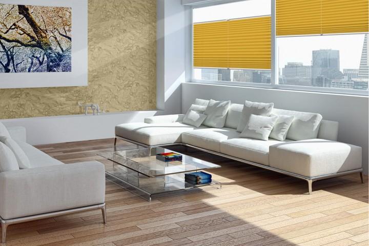 Plissee auf Maß für Fenster Ambiente Wohnzimmer VS2 Farbe N738