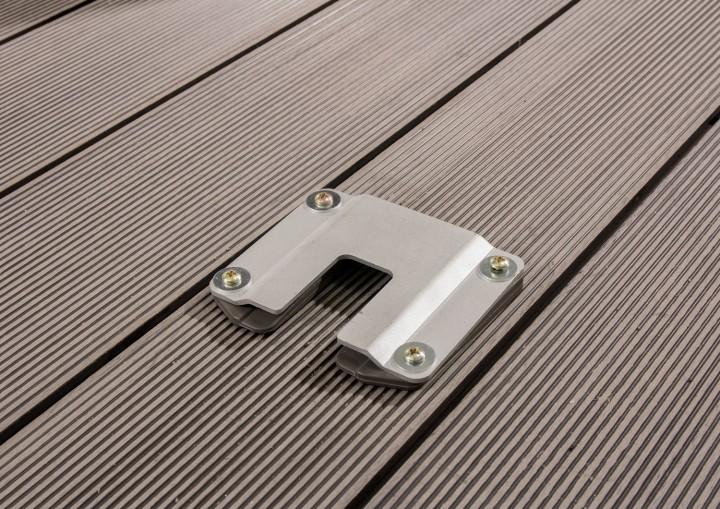 Seitenmarkise slim Bodenplatte