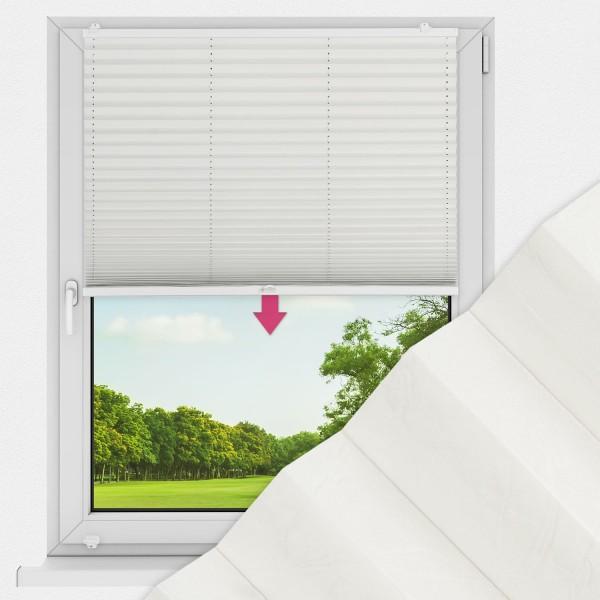 Plissee nach Maß für Fenster Farbe N176 Snow White Ausführung VS1