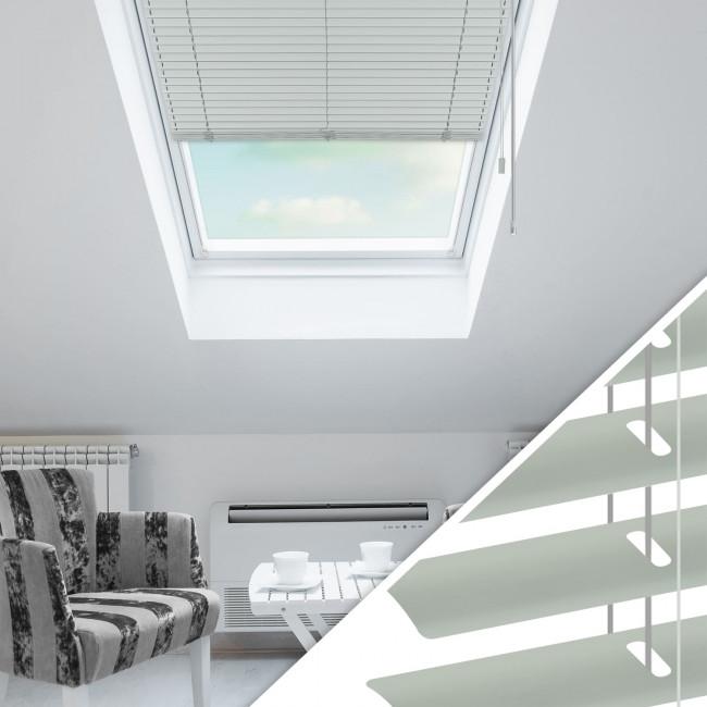 Aluminium Jalousie nach Maß für Dachfenster, Farbe 2006 grey