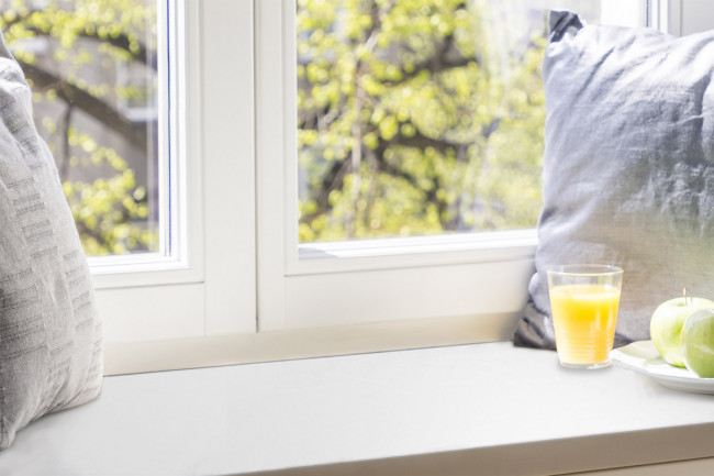 """Fensterbank """"INNEN"""", Kunststoff - Zuschnitt auf Maß"""