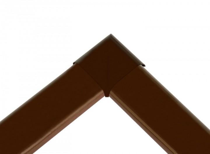 Fliegengitter Fenster Basic Eckverbinder außen braun