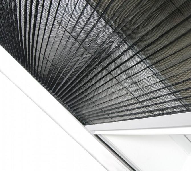Insektenschutz Dachfenster Plissee Gewebe