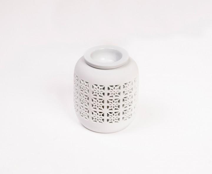 Aromalampe elektrisch, ca. Ø 12 x 14 cm - Weiß