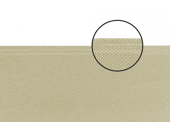 Seitenmarkise slim beige Stoff genäht
