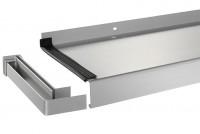 """Fensterbank Gleitabschluss """"ALU"""", Aluminium - 1 Paar"""