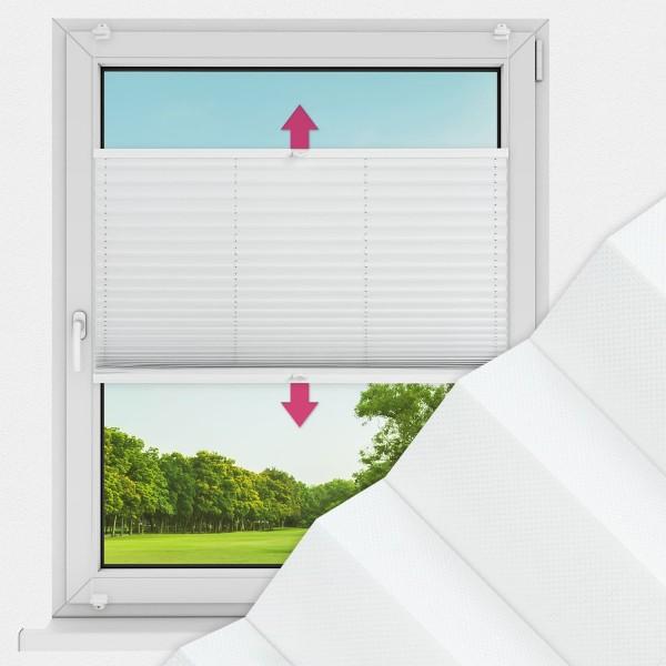 Plissee nach Maß für Fenster Farbe N179 Ghost White Ausführung VS2