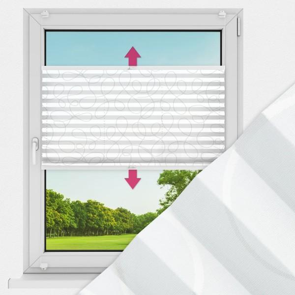 Plissee nach Maß für Fenster Farbe N170 White Rounds Ausführung VS2